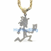 Bling Bling ICP Hatchetman Gold Charm & Chain Officially Licensed
