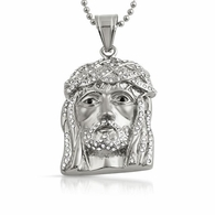Bling Bling Mini Jesus Pendant Stainless Steel