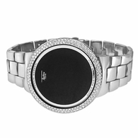 Bling Bling Silver LED Touch Screen Metal Band Watch