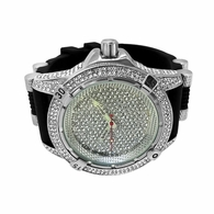 Bling Bling Sporty Black Rubber Watch Wow