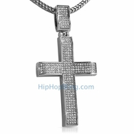 Bling Bling Wavy Cross