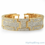 Blocks of Ice Gold Bling Bling Bracelet