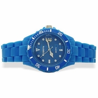Blue Plastic Submariner Date Fashion Watch
