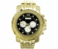 Boss Gold .25 Carat Diamond JoJino Hip Hop Watch Black Dial