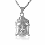 Buddha Head Pendant Stainless Steel
