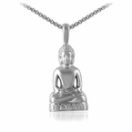 Calm Sitting Buddha Pendant Stainless Steel