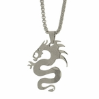 Chinese Dragon Pendant Chain Set Stainless Steel