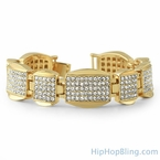 Classic Bling Gold Iced Out Bracelet
