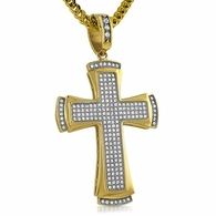 Classic Designer Cross Gold Stainless Steel