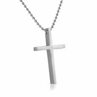 Clean Cross Stainless Steel Pendant