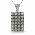 Cluster Micro Pave Bling Bling Dogtag