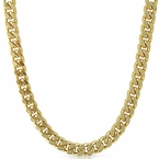Cuban Box Necklace Gold Plated Chain 10mm
