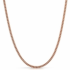 Cuban Chain 3MM Rose Gold Stainless Steel