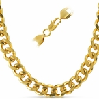 Cuban IP Gold Stainless Steel Chain Necklace 12MM