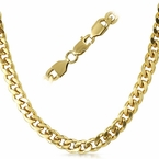 Cuban IP Gold Stainless Steel Chain Necklace 8MM