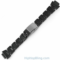 Custom Black CZ Micro Pave Band for G Shock Watch
