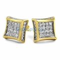 Custom Gold Micro Pave Earrings