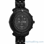 Custom Sport Black Bling Bling Watch