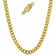 CZ Clasp 10MM Cuban Chain Gold Stainless Steel