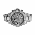Daytona Chronograph CZ Custom Bling Mens Watch