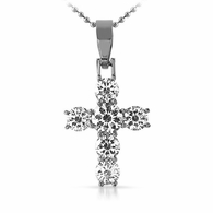 Designer 1 Row No Fade 316L Bling Bling Cross