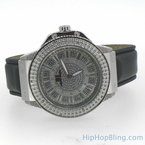 Designer Super Techno Silver Real Diamond Watch