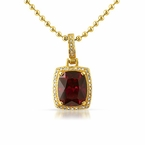 Diamond .21 Carat Lab Ruby Rick Ross Style Pendant