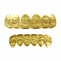 Diamond Cut Gold Grillz Classic Set