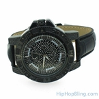 Diver Sport All Black Hip Hop Diamond Watch Super Techno