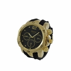 Divers Gold Sports Watch Rubber Band