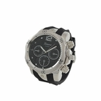 Divers Silver Sports Watch Rubber Band