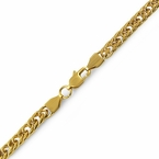 Double Cuban IP Gold Stainless Steel Chain Bracelet 6MM