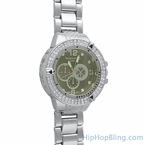 Double Ice Bling Bling Watch Silver