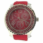 Double Red Double Bezel Red Rubber Watch