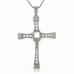 Fast n Furious Inspired Cross Pendant CZ