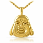 Fat Buddha Face Gold Pendant Stainless Steel