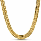 Flat Foxtail Gold Plated Hip Hop Chain