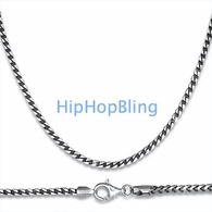 Franco .925 Sterling Silver Rhodium Chain 4.5mm 36 Inches