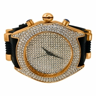 Full Bling Dial and Triple Bezel Icey Watch Rose Gold