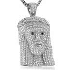 Fully Iced Out Jesus Face Pendant Never Fade