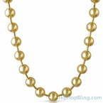 Gold 12MM Bead Chain Necklace