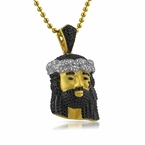 Gold .925 Sterling Silver Detailed Mini Jesus Pendant