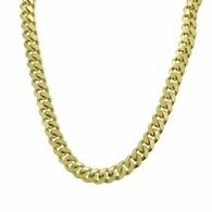 Gold .925 Sterling Silver Miami Cuban Chain