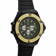 Gold and Black Fashion Hip Hop Watch