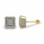 Gold Ballers CZ Hip Hop Earrings
