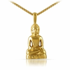 Gold Calm Sitting Buddha Pendant Stainless Steel