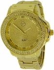 Gold Chunky Techno Pave Bling Bling Watch