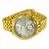 Gold Flutted Bezel Jubilee Womens Watch