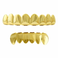 Gold Grillz 8 Tooth Set