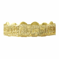 Gold Grillz Bar Diamond Cut Top